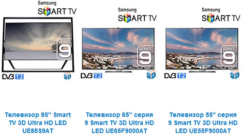Линейка 4K-телевизоров Samsung