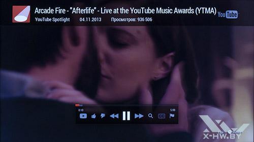 Приложение YouTube на Samsung UE55F9000AT. Рис. 2