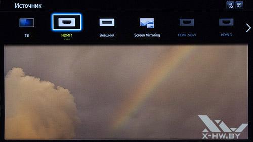 Источник сигнала на Samsung UE55F9000AT