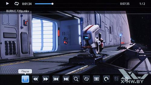 Воспроизведение видео на Samsung UE55F9000AT