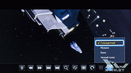 Параметры воспроизведения видео на Samsung UE55F9000AT