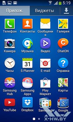 Приложения Samsung Galaxy Grand Neo. Рис. 1