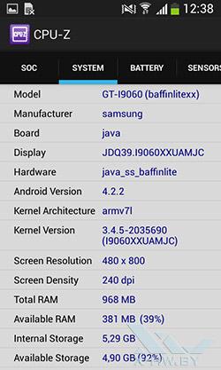 Процессор Samsung Galaxy Grand Neo. Рис. 2
