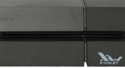 Кнопки включения и извлечения диска на Sony PlayStation 4
