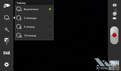 Таймер для видеосъемки камерой Samsung Galaxy Tab 3 Lite