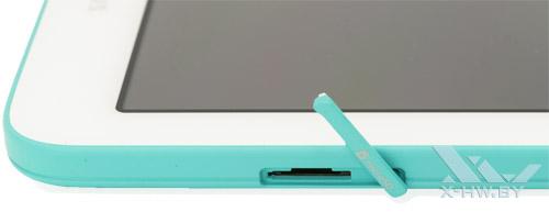 Разъем для карты microSD на Samsung Galaxy Tab 3 Lite