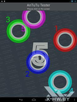 Число касаний, распознаваемых экраном bb-mobile Techno 7.85 3G