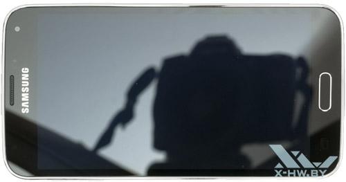 Samsung Galaxy S5. Вид сверху