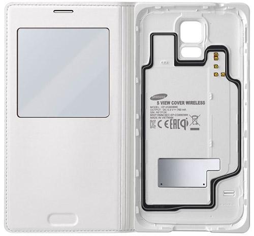Чехол S View с поддержкой беспроводной зарядки Samsung Galaxy S5