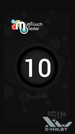 Число касаний, распознаваемых экраном Samsung Galaxy S5