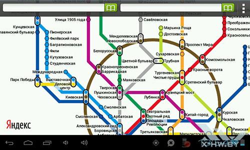 Яндекс.Метро на Lexand STA-5.0