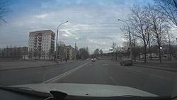 Пример съемки видеорегистратором BlackSys CF-100 GPS 2CH. Рис. 1