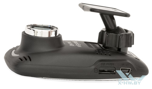 BlackSys CF-100 GPS 2CH. Разъемы miniUSB, microSD