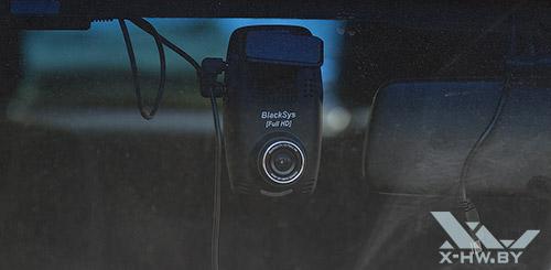 BlackSys CF-100 GPS 2CH. Задняя камера на стекле. Рис.2