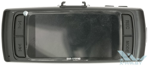 Кнопки и экран Texet DVR-570FHD