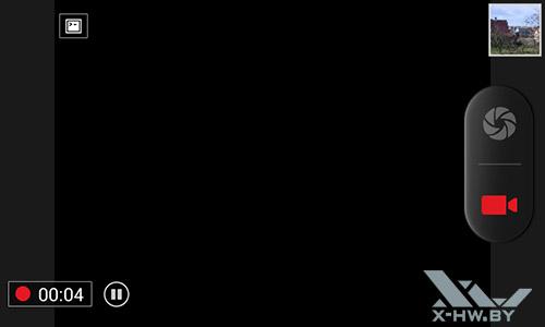 Интерфейс записи видео камерой Highscreen Zera F