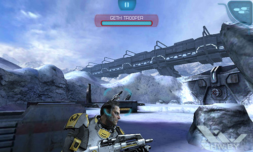 Игра Mass Effect: Infiltrator на Highscreen Zera F