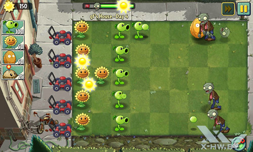 Игра Plants vs Zombies 2 на Highscreen Zera F