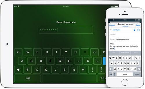 Корпоративные функции в iOS 8. Рис. 1