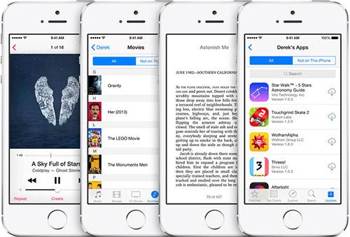Семейный доступ в iOS 8. Рис. 1