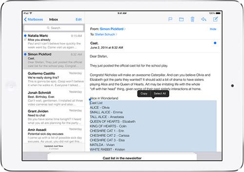 Почтовый клиент Mail в iOS 8