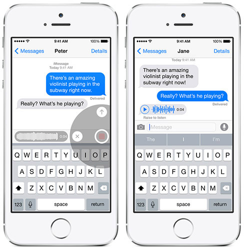 Messages в iOS 8. Рис. 1