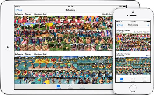 Photos в iOS 8. Рис. 1