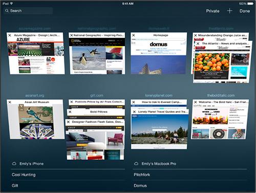Safari в iOS 8. Рис. 1