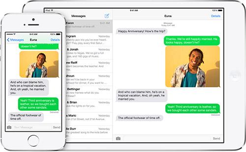 Отправление SMS в iOS 8