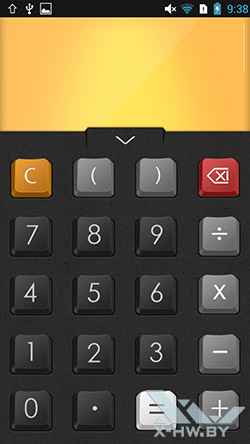 Калькулятор на Lenovo P780