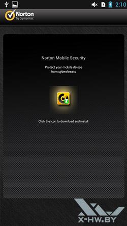 Norton Mobile Security на Lenovo P780