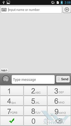 Набор SMS на Lenovo P780