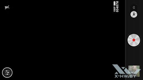 Интерфейс съемки видео камерой Lenovo P780