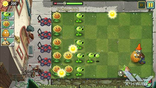 Игра Plants vs Zombies 2 на Lenovo P780