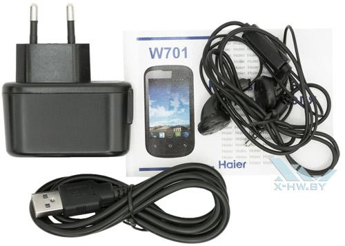 Комплектация Haier W701