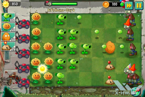Игра Plants vs Zombies 2 на Haier W701