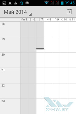 Календарь на Haier W701