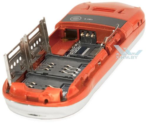 Разъемы для SIM-карт и карты microSD на Lexand LPH1 Mini