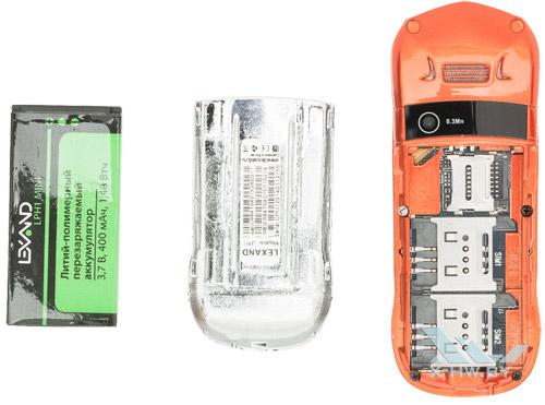 Разъемы для SIM-карт на Lexand LPH1 Mini