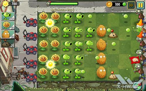 Игра Plants vs Zombies 2 на Samsung Galaxy Tab S 10.5