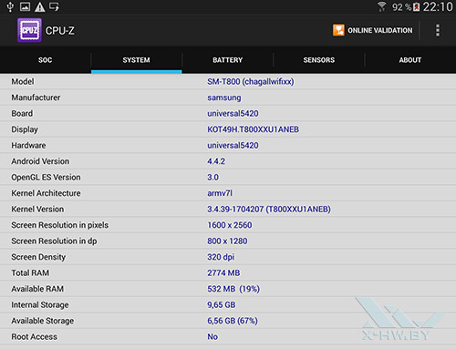Система Samsung Galaxy Tab S 10.5