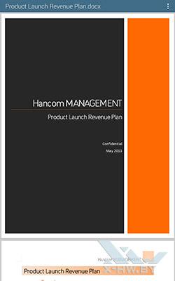 Hancom OfficeViewer на Samsung Galaxy Tab S 10.5. Рис. 3