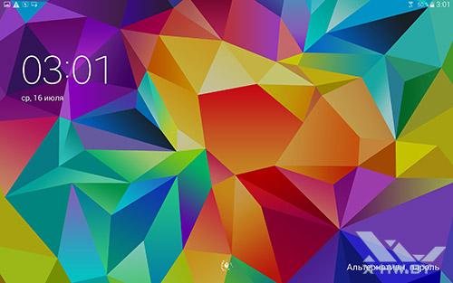 Экран блокировки Samsung Galaxy Tab S 10.5