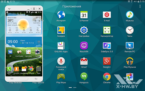 SideSync на Samsung Galaxy Tab S 10.5. Рис. 3
