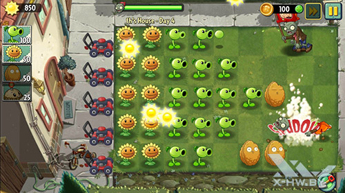 Игра Plants vs Zombies 2 на Lenovo S860