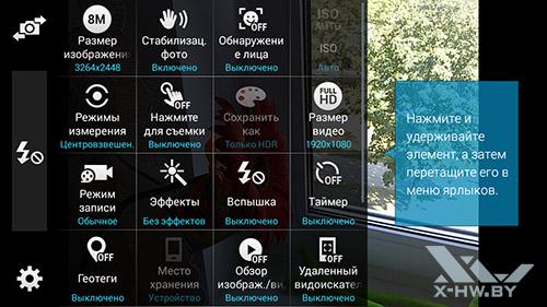 Параметры камеры Samsung Galaxy S5 Mini