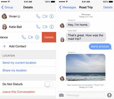 Как удалить старые разговоры в Messages. iOS 8. Рис. 1