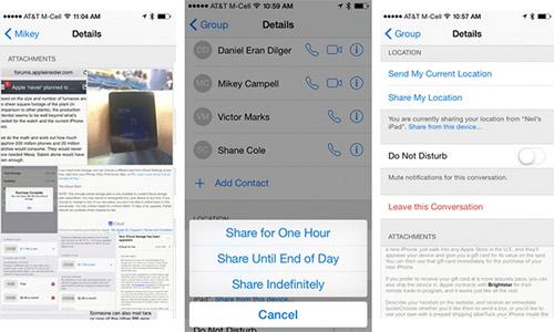 Как удалить старые разговоры в Messages. iOS 8. Рис. 2