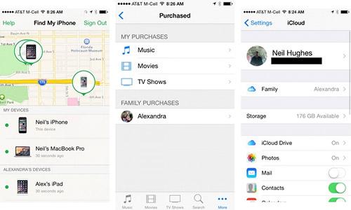Организация семейного доступа в iOS 8. Рис. 2