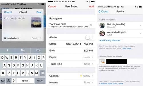 Организация семейного доступа в iOS 8. Рис. 3